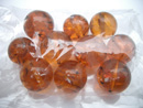 Cognac colour round Baltic amber beads - round beads wholesale