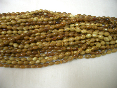 Olive shape loose amber beads (drilled)