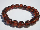 Dark cognac colour amber bracelet