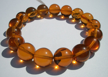 Cognac beads = stretch amber bracelet
