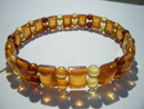 Faceted amber bracelets - faceted beads