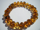 Stretch amber bracelet - baroque beads