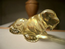 Hand-carved Baltic amber figurine - amber walrus