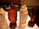 Hand-carved amber figurines