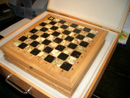 Baltic amber chess set - amber chess set in case