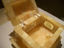 Open baltic amber jewelry box - jewelry boxes