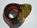 Green amber ring - massive green amber ring