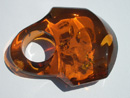 Massive Baltic amber ring - cognac amber ring