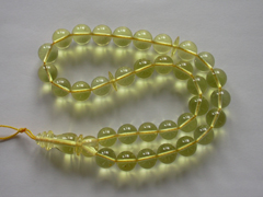 Lemon amber rosary - 33 or 66 round amber box beads