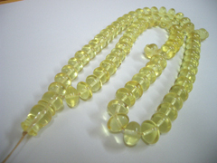 Lemon istanbul cut Baltic amber rosary - 33 amber beads